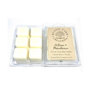 Citron and Mandarin scented soy wax melts
